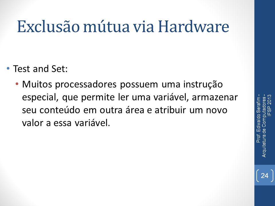 Exclusão mútua via Hardware Prof.