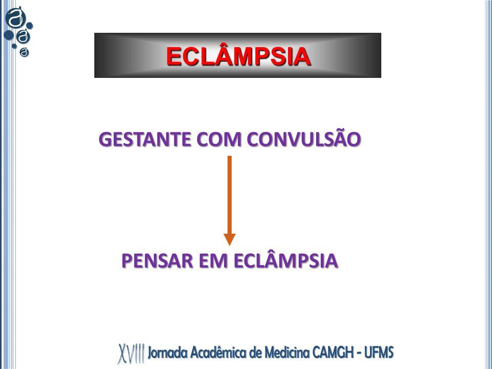 GESTANTE COM CONVULSÃO PENSAR EM ECLÂMPSIA ECLÂMPSIA