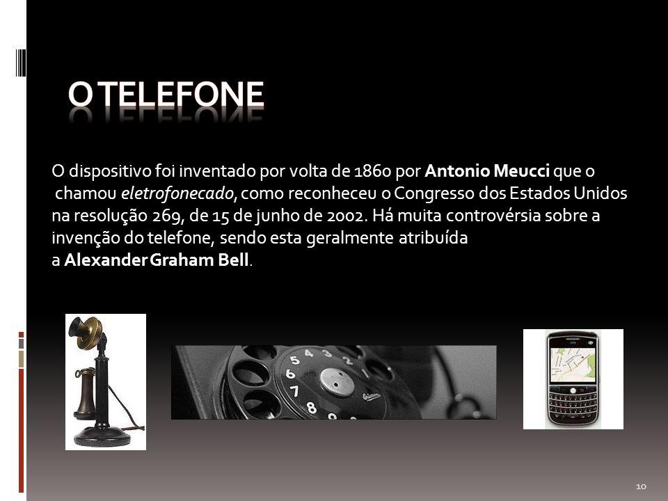 O dispositivo foi inventado por volta de 1860 por Antonio Meucci que o chamou eletrofonecado, como reconheceu o Congresso dos Estados Unidos na resolu