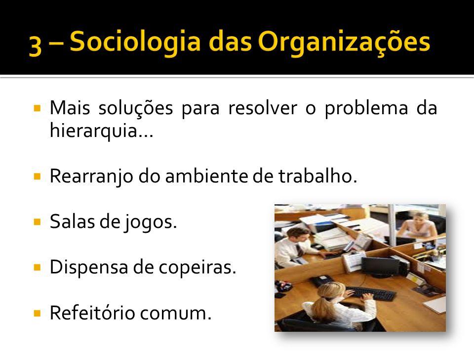 Mais soluções para resolver o problema da hierarquia...