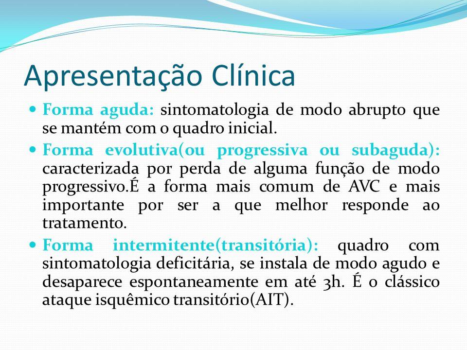 Tratamento do AVCI entre 0 e 6h A trombólise endovenosa é o tratamento de escolha para os pacientes com AVC isquêmico com evolução de até 4,5 horas.