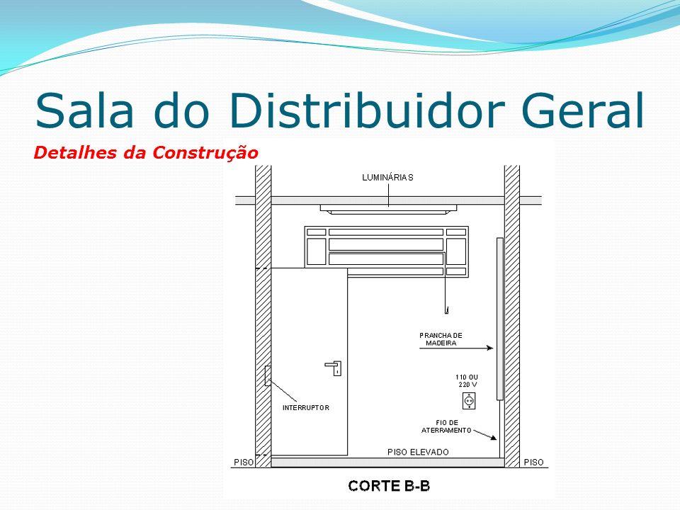 Sala do Distribuidor Geral Detalhes da Construção