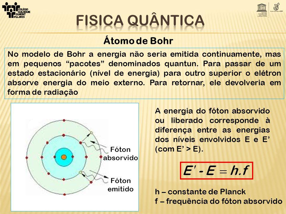 A energia mecânica total E n do elétron no enésimo estado estacionário é dada pela soma das energias cinética e potencial: FÓRMULA DE BOHR