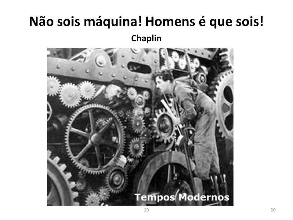 Não sois máquina! Homens é que sois! Chaplin 20