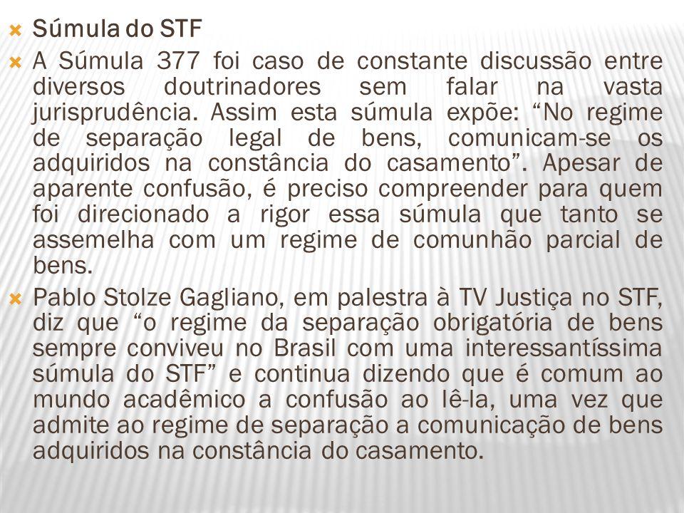 Súmula do STF A Súmula 377 foi caso de constante discussão entre diversos doutrinadores sem falar na vasta jurisprudência. Assim esta súmula expõe: No