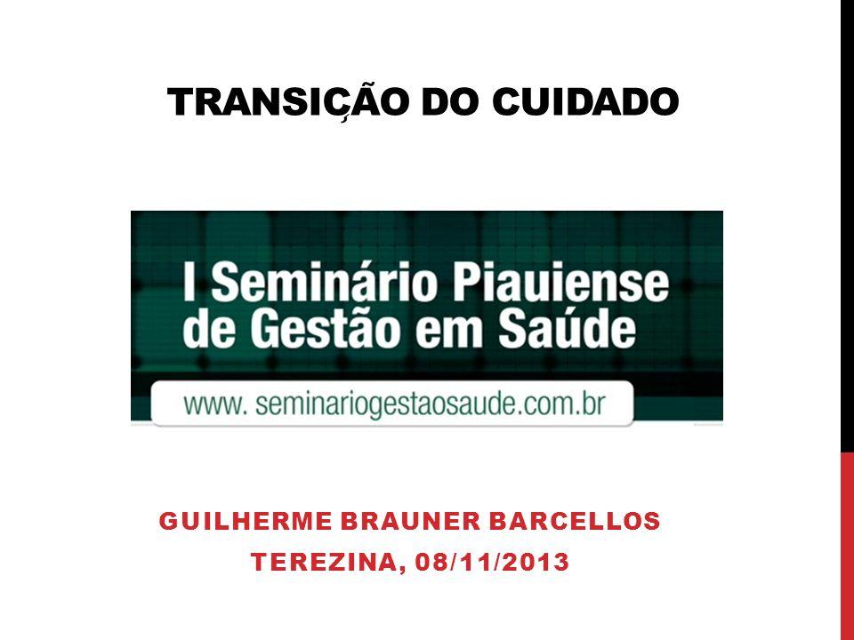 TRANSIC ̧ A ̃ O DO CUIDADO GUILHERME BRAUNER BARCELLOS TEREZINA, 08/11/2013