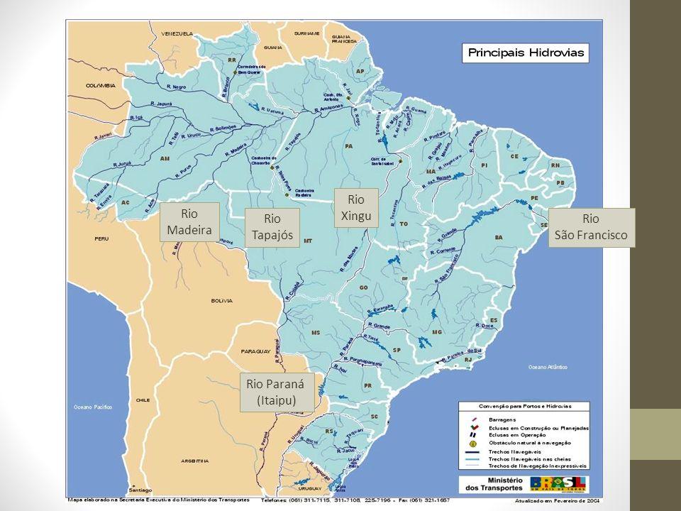 Rio Madeira Rio Tapajós Rio Xingu Rio Paraná (Itaipu) Rio São Francisco