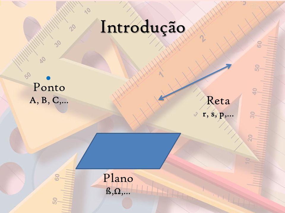 Introdução Reta r, s, p,... Ponto A, B, C,... Plano ß,,...
