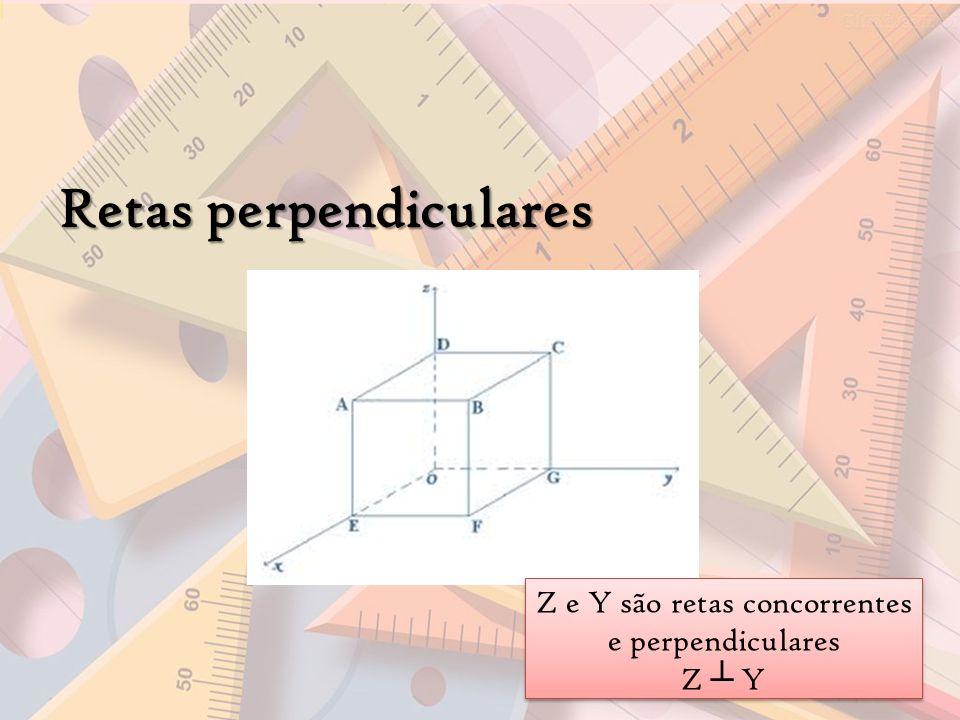 Retas perpendiculares Z e Y são retas concorrentes e perpendiculares Z Y Z e Y são retas concorrentes e perpendiculares Z Y