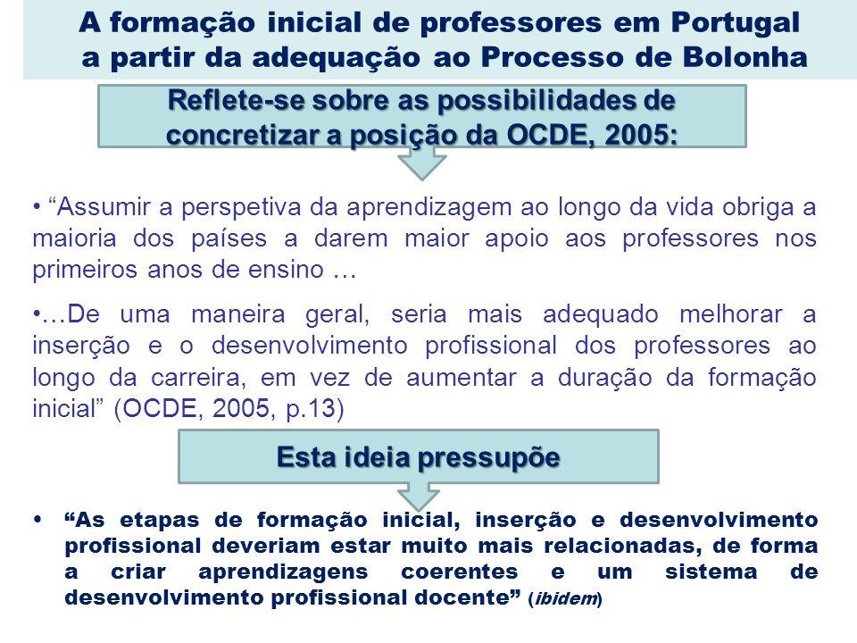 A formação inicial de professores em Portugal a partir da adequação ao Processo de Bolonha Assumir a perspetiva da aprendizagem ao longo da vida obrig