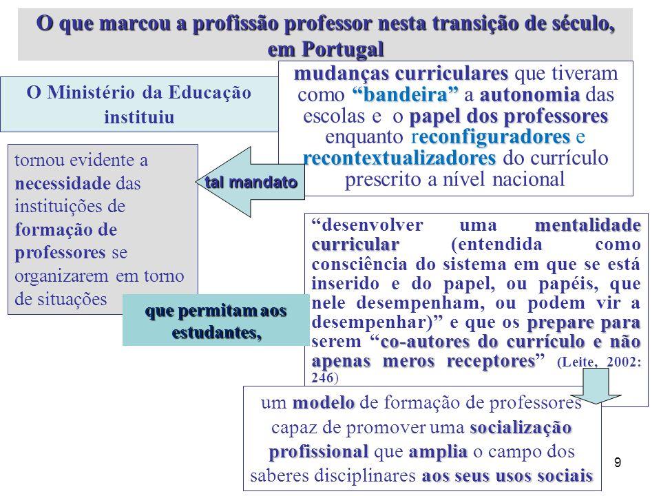 Um entendimento da actividade docente que se afasta claramente da visão tradicional de que os professores universitários não precisam de ser ensinados (Leite, 2007, p.2) e, ao contrário, advoga o reconhecimento da necessidade permanente de aprender a ser professor.