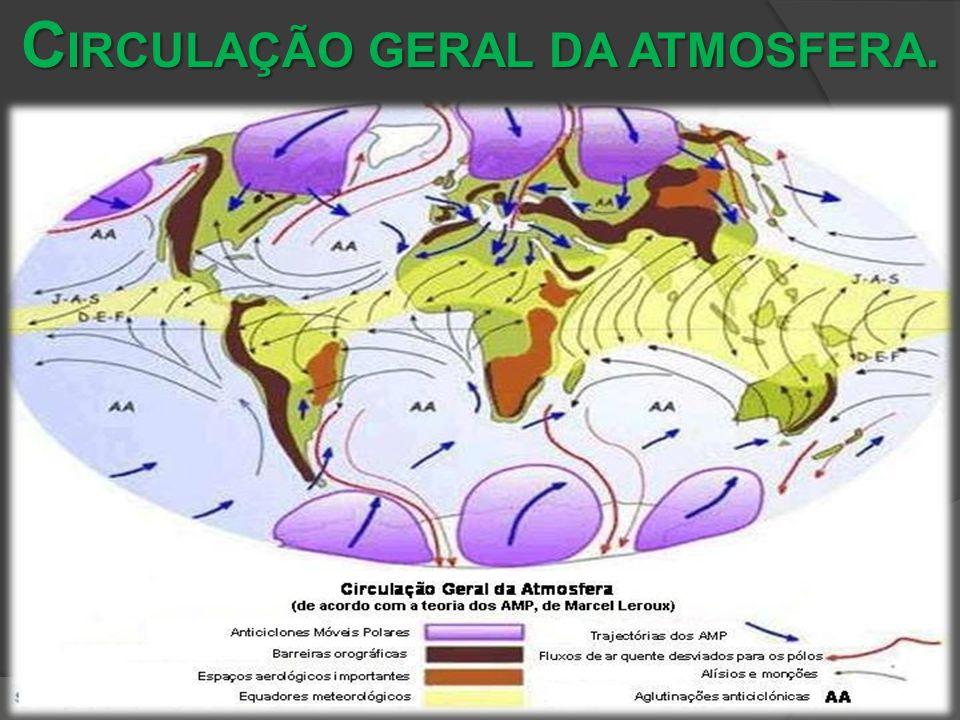 C IRCULAÇÃO GERAL DA ATMOSFERA.