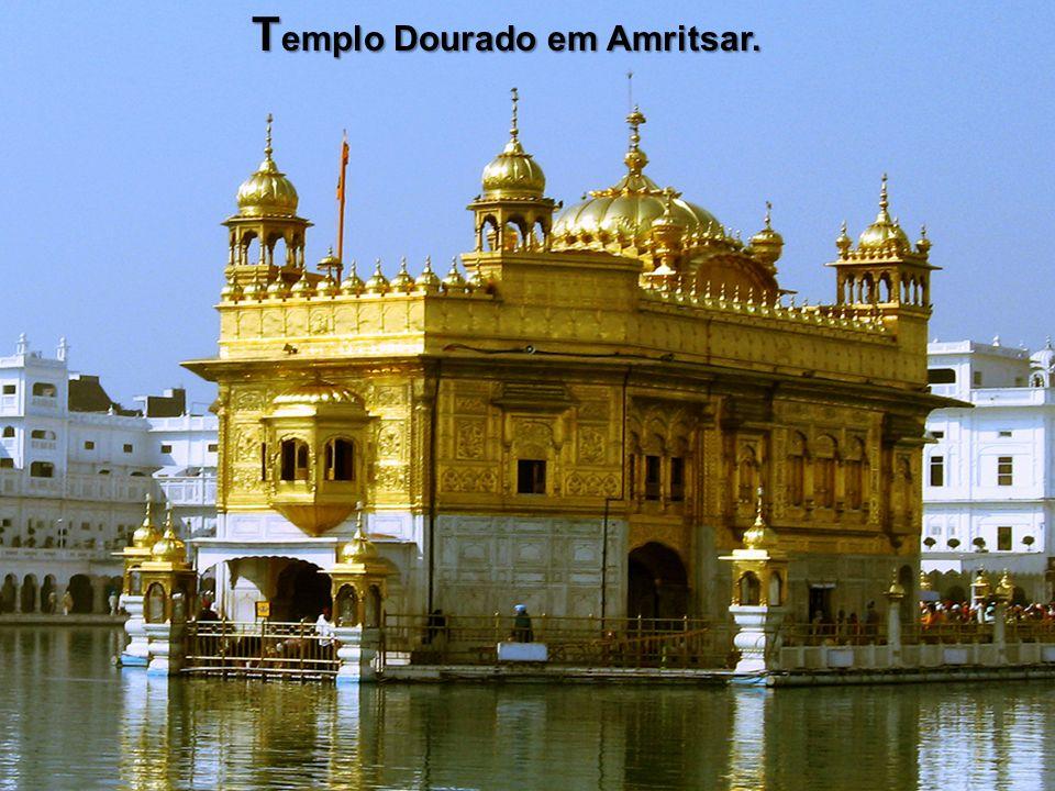 T emplo Dourado em Amritsar.