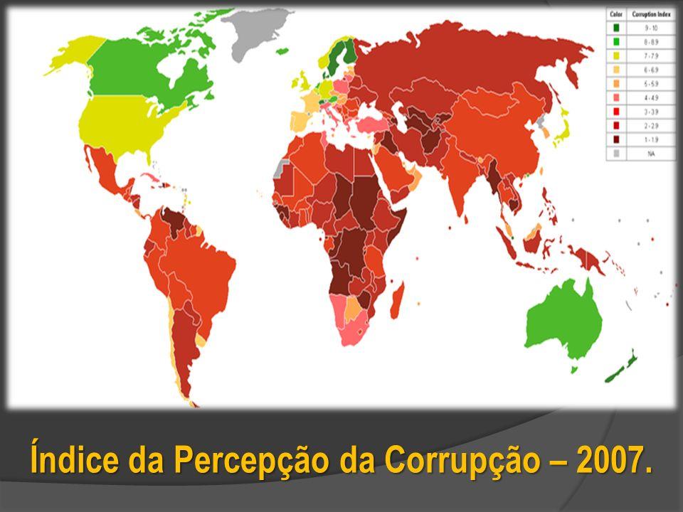 Índice da Percepção da Corrupção – 2007.