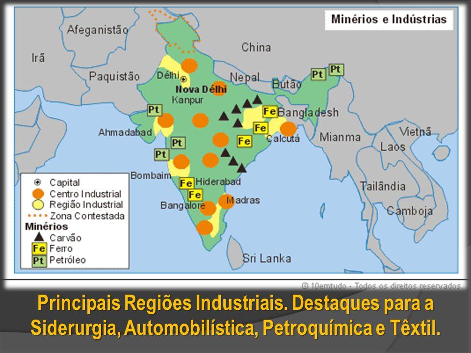 Principais Regiões Industriais.