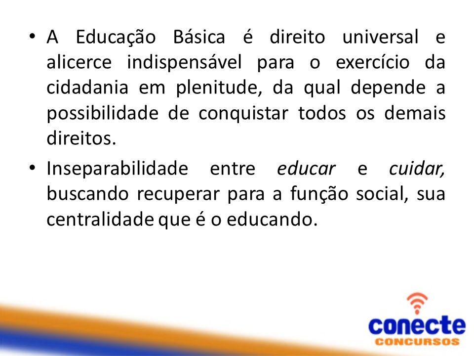 A Educação Básica é direito universal e alicerce indispensável para o exercício da cidadania em plenitude, da qual depende a possibilidade de conquist