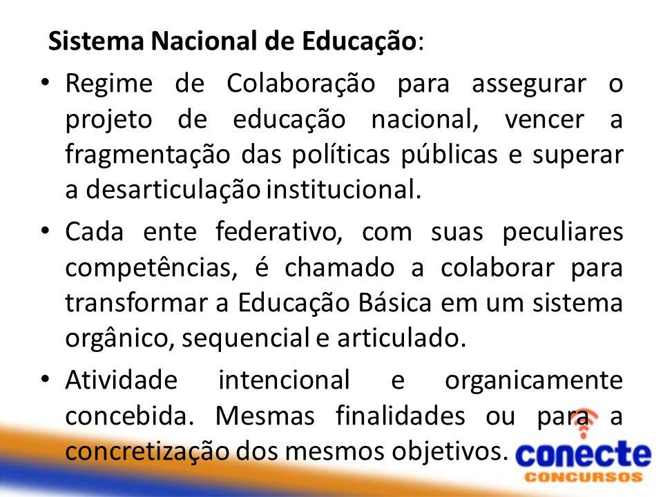 Sistema Nacional de Educação: Regime de Colaboração para assegurar o projeto de educação nacional, vencer a fragmentação das políticas públicas e supe