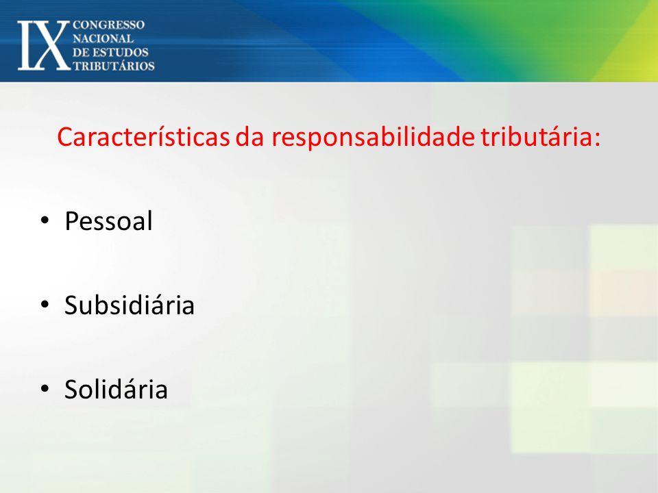 Responsabilidade por sucessão – arts.