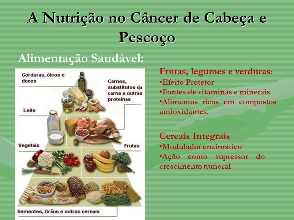 A Nutrição no Câncer de Cabeça e Pescoço Alimentação Saudável: Cereais Integrais Modulador enzimático Ação como supressor do crescimento tumoral Fruta