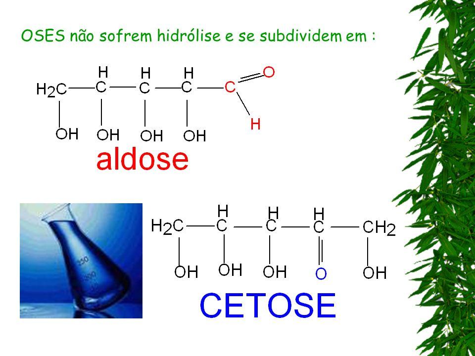 OSES não sofrem hidrólise e se subdividem em :
