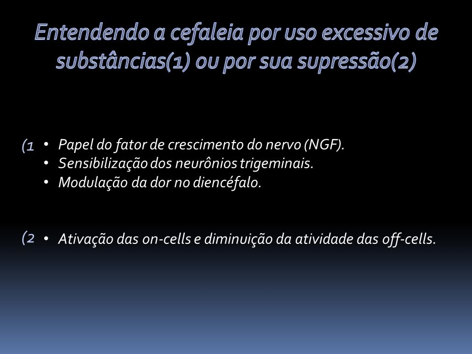 Papel do fator de crescimento do nervo (NGF).Sensibilização dos neurônios trigeminais.