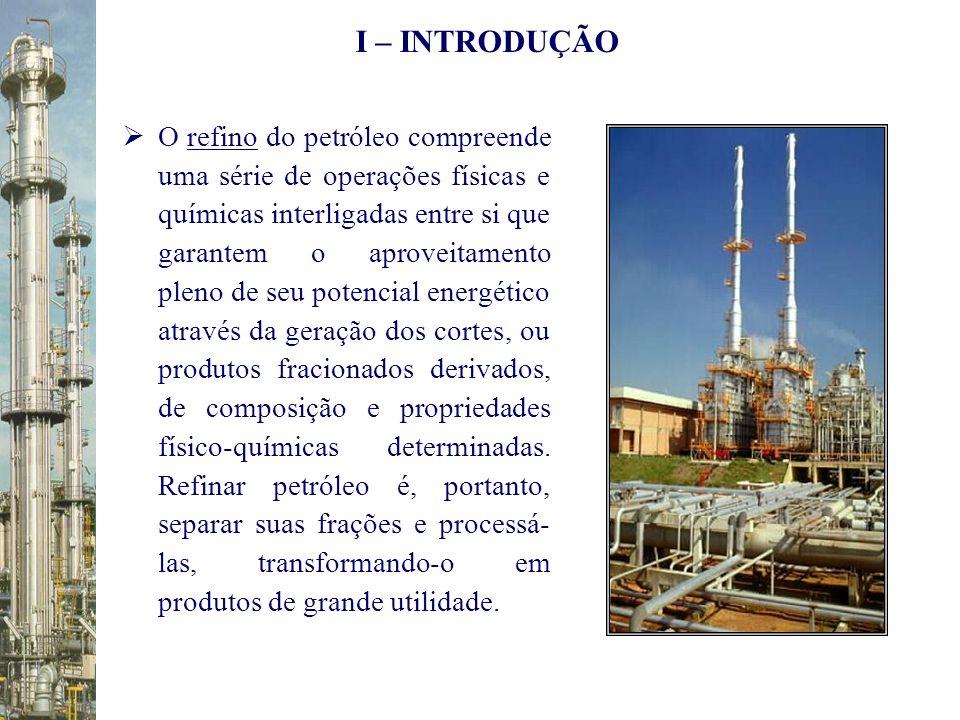 O refino do petróleo compreende uma série de operações físicas e químicas interligadas entre si que garantem o aproveitamento pleno de seu potencial e