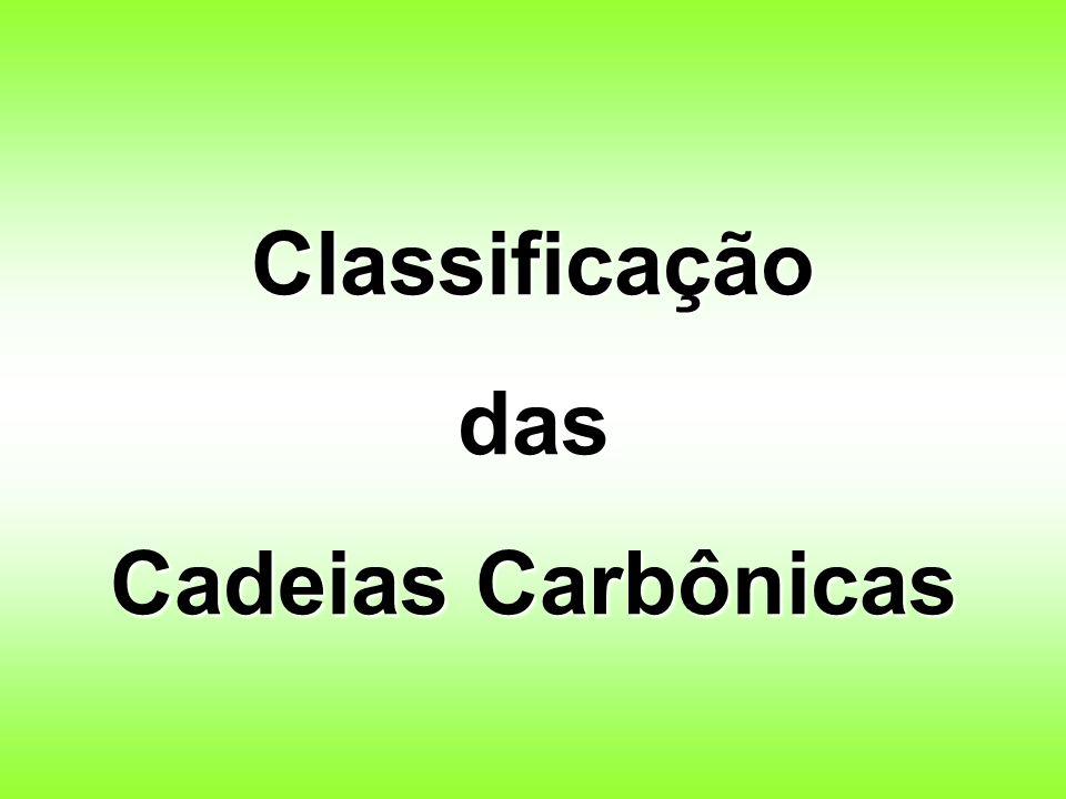 Classificaçãodas Cadeias Carbônicas