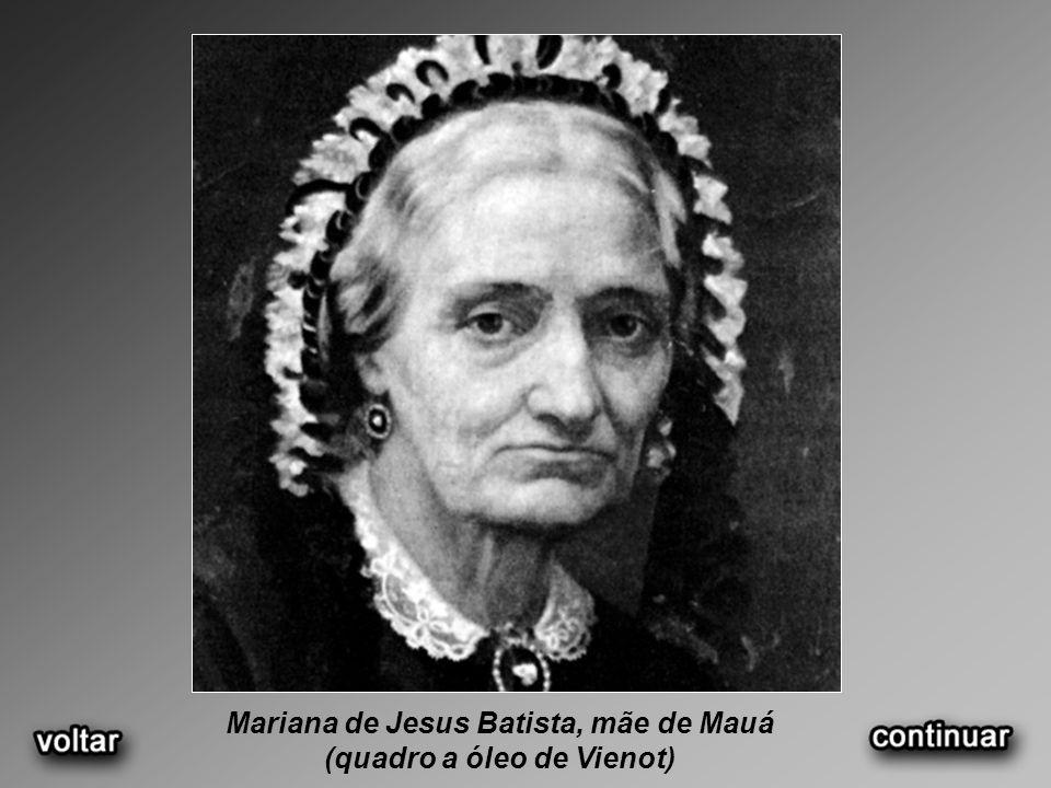 Mariana de Jesus Batista, mãe de Mauá (quadro a óleo de Vienot)