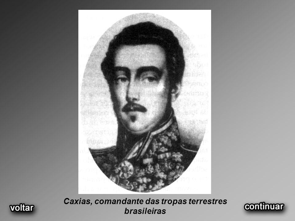 Caxias, comandante das tropas terrestres brasileiras