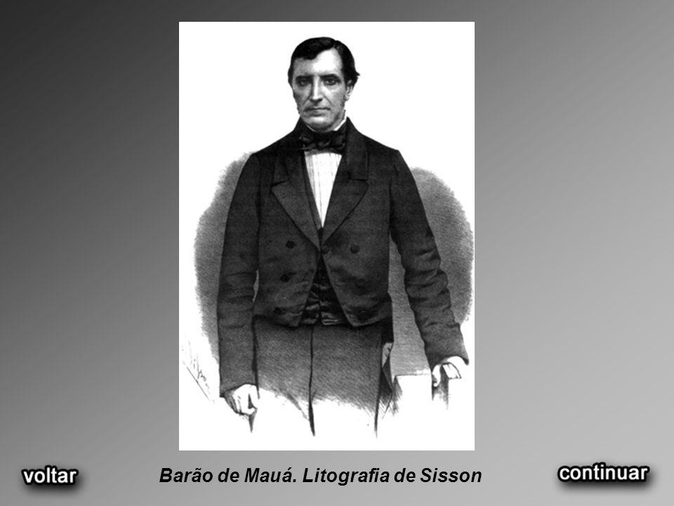 Barão de Mauá. Litografia de Sisson