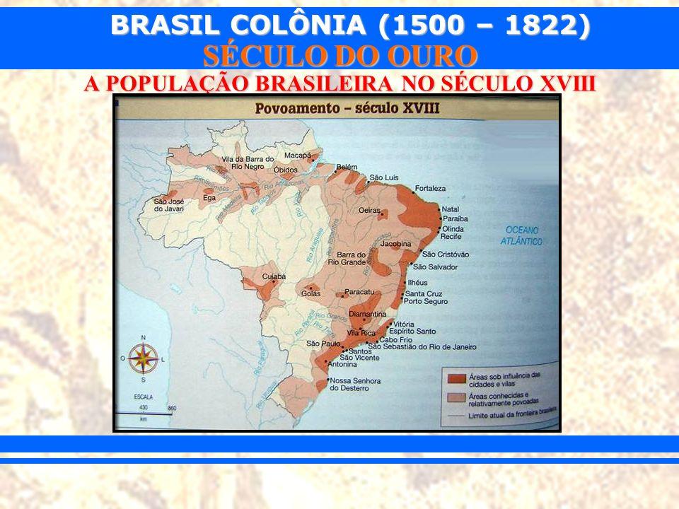 BRASIL COLÔNIA (1500 – 1822) SÉCULO DO OURO A POPULAÇÃO BRASILEIRA NO SÉCULO XVIII