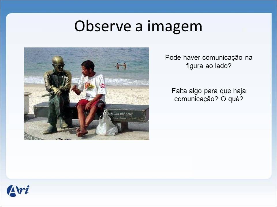 Observe a imagem Pode haver comunicação na figura ao lado? Falta algo para que haja comunicação? O quê?