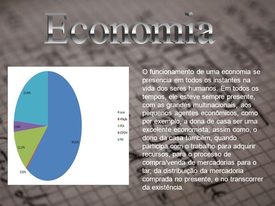 O funcionamento de uma economia se presencia em todos os instantes na vida dos seres humanos.