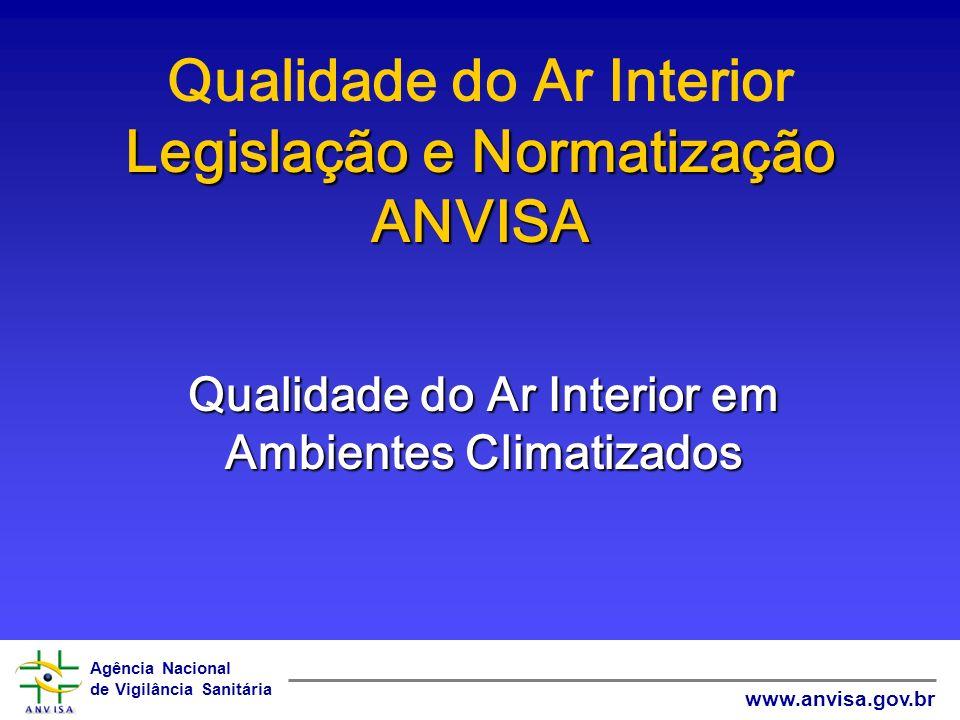 Agência Nacional de Vigilância Sanitária www.anvisa.gov.br Legislação e Normatização ANVISA Qualidade do Ar Interior Legislação e Normatização ANVISA