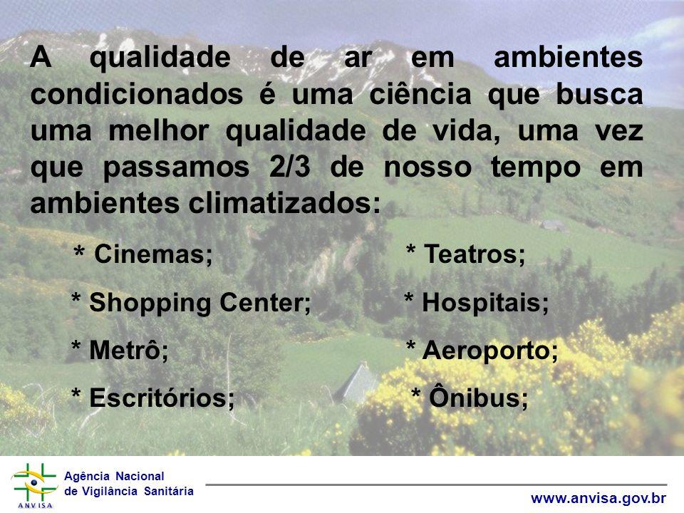 Agência Nacional de Vigilância Sanitária www.anvisa.gov.br A qualidade de ar em ambientes condicionados é uma ciência que busca uma melhor qualidade d