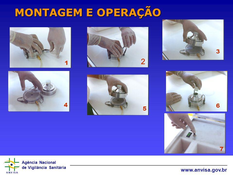 Agência Nacional de Vigilância Sanitária www.anvisa.gov.br 1 3 4 5 6 7 MONTAGEM E OPERAÇÃO 2