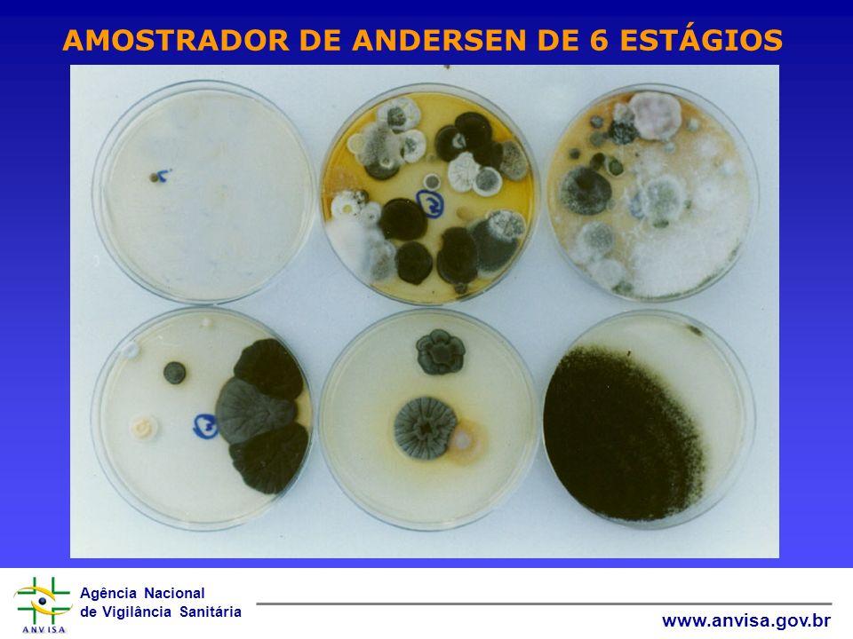 Agência Nacional de Vigilância Sanitária www.anvisa.gov.br AMOSTRADOR DE ANDERSEN DE 6 ESTÁGIOS