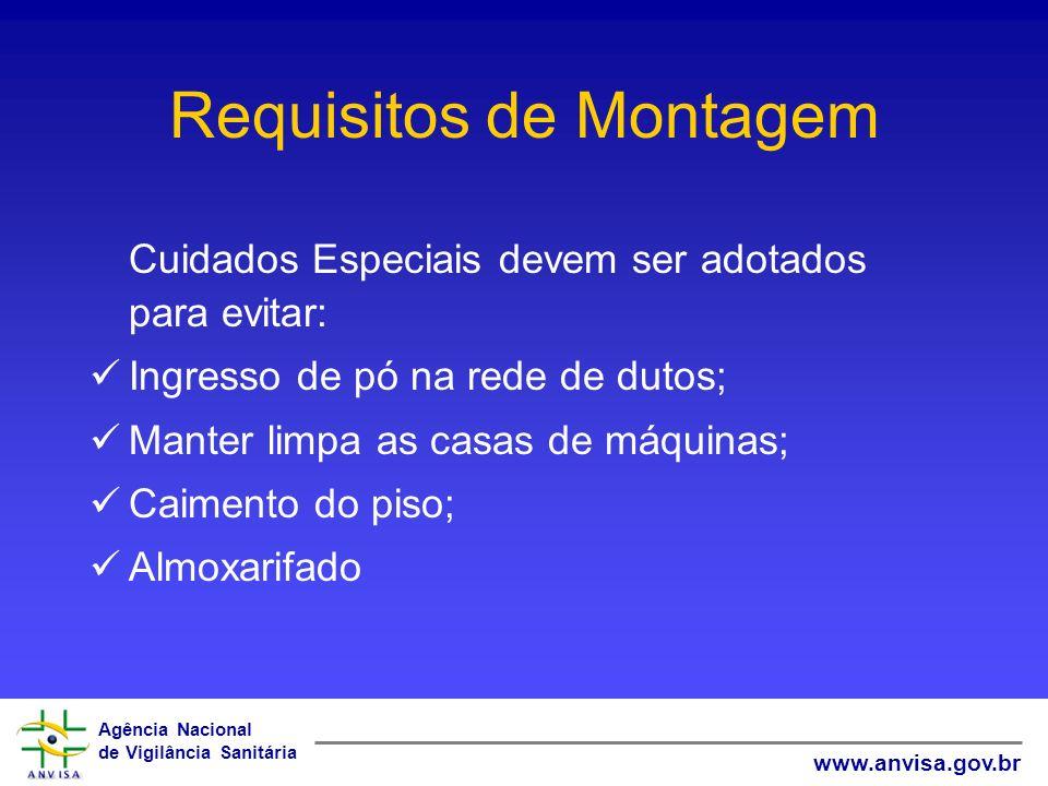 Agência Nacional de Vigilância Sanitária www.anvisa.gov.br Requisitos de Montagem Cuidados Especiais devem ser adotados para evitar: Ingresso de pó na