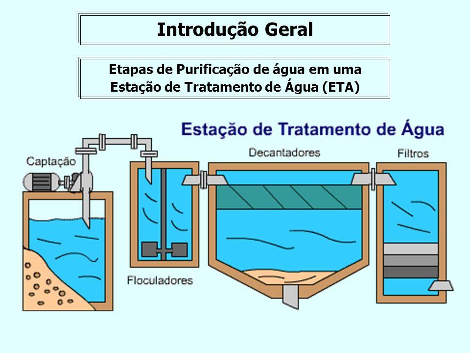 Etapas de Purificação de água em uma Estação de Tratamento de Água (ETA) Introdução Geral