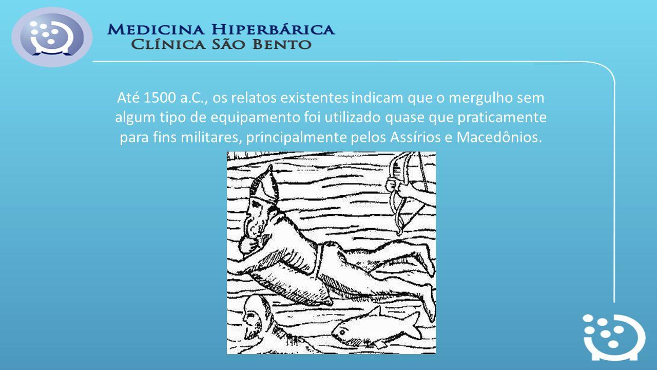 Até 1500 a.C., os relatos existentes indicam que o mergulho sem algum tipo de equipamento foi utilizado quase que praticamente para fins militares, pr