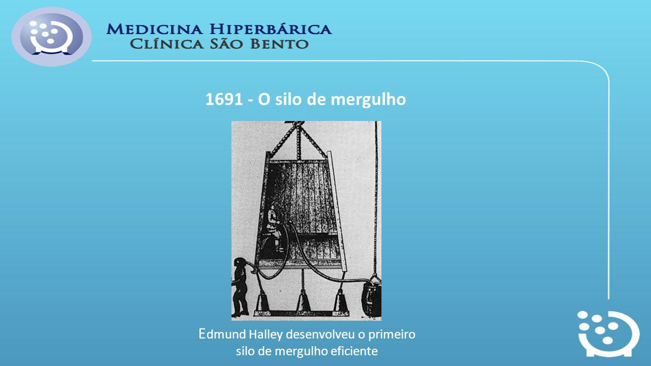 1691 - O silo de mergulho E dmund Halley desenvolveu o primeiro silo de mergulho eficiente