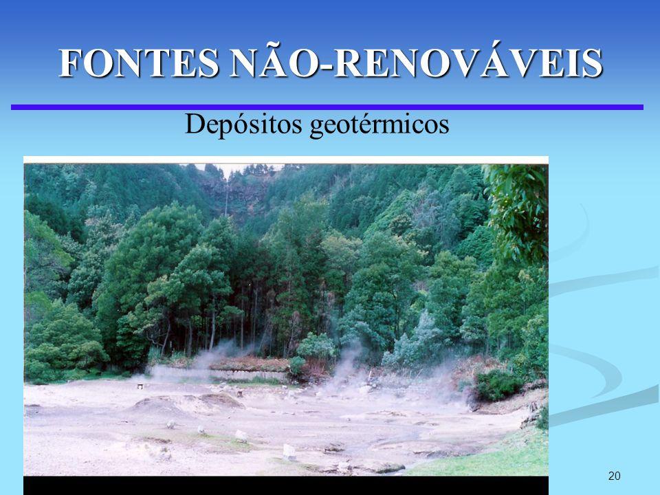 20 FONTES NÃO-RENOVÁVEIS Depósitos geotérmicos