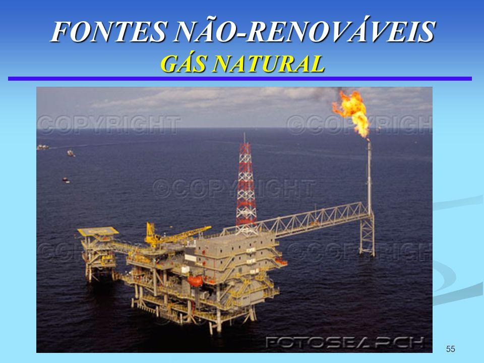 55 FONTES NÃO-RENOVÁVEIS GÁS NATURAL