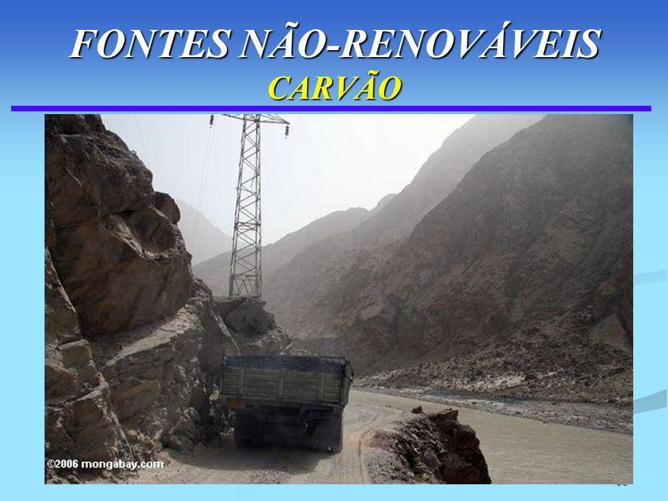 60 FONTES NÃO-RENOVÁVEIS CARVÃO