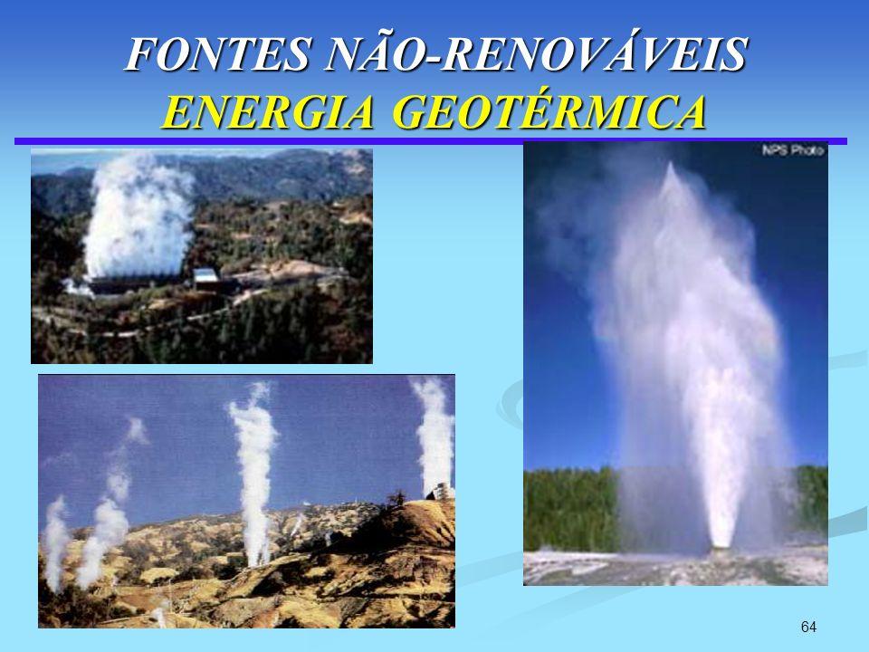 64 FONTES NÃO-RENOVÁVEIS ENERGIA GEOTÉRMICA