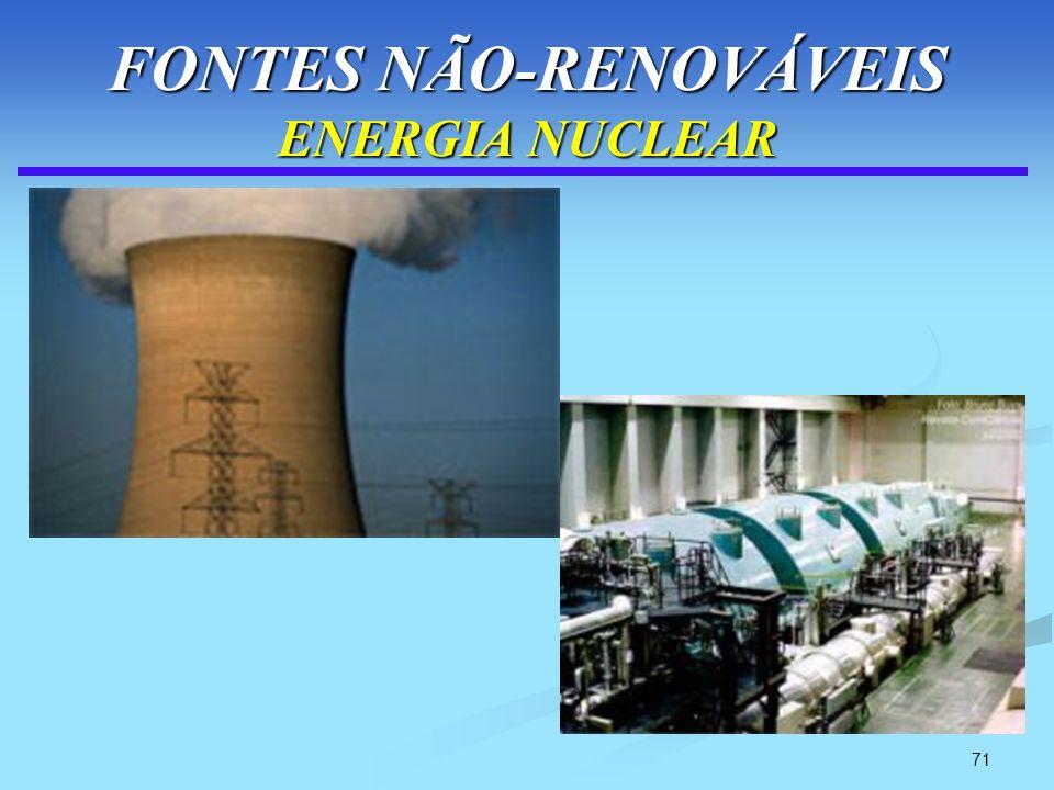 71 FONTES NÃO-RENOVÁVEIS ENERGIA NUCLEAR