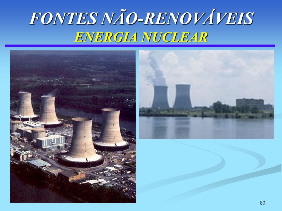 80 FONTES NÃO-RENOVÁVEIS ENERGIA NUCLEAR