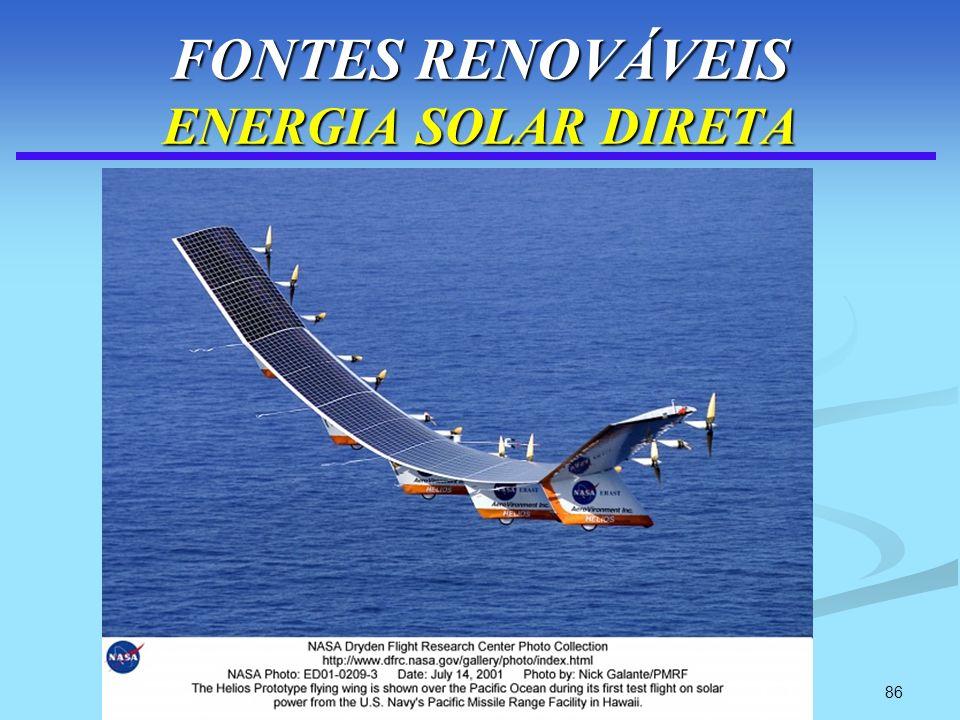 86 FONTES RENOVÁVEIS ENERGIA SOLAR DIRETA