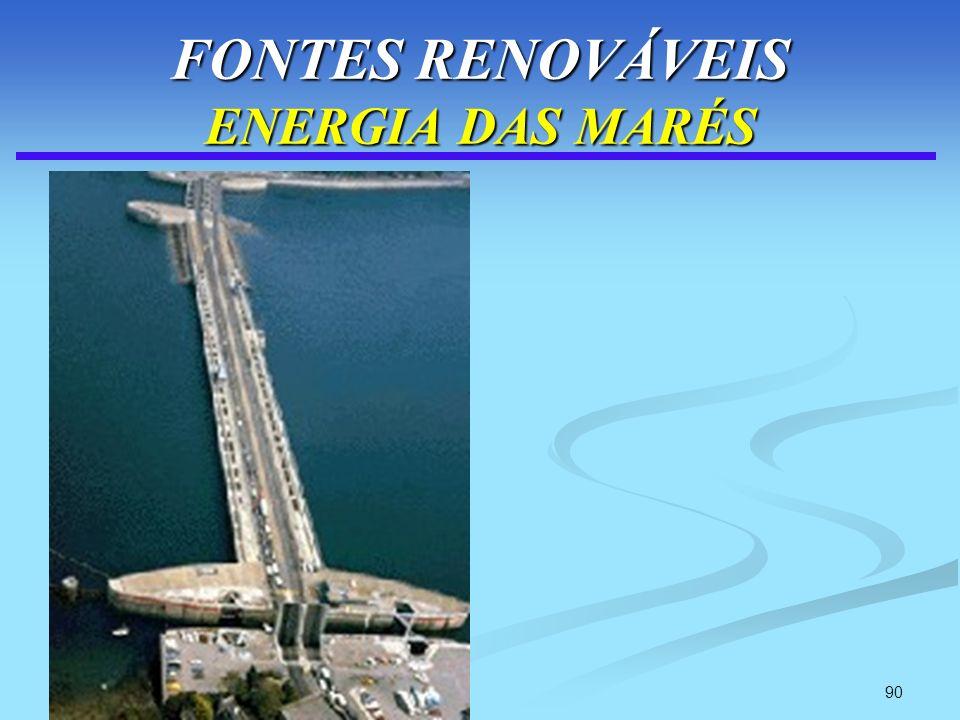 90 FONTES RENOVÁVEIS ENERGIA DAS MARÉS