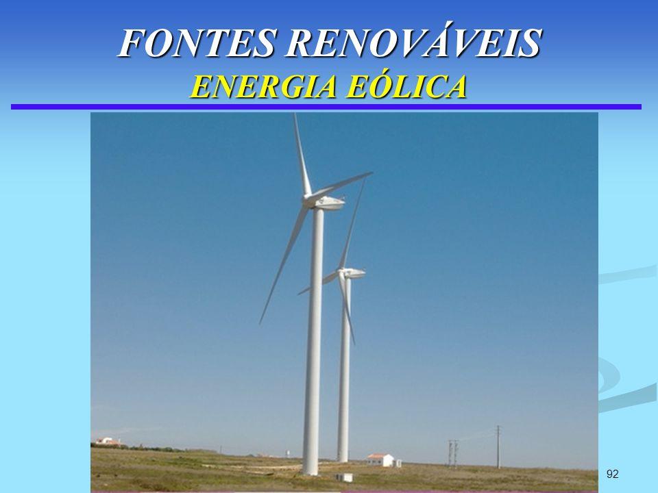 92 FONTES RENOVÁVEIS ENERGIA EÓLICA